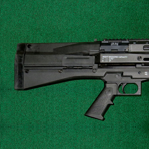 "UTAS - UTS-15, 12 ga., pump shotgun, 18"" barrel, twin mag tubes"