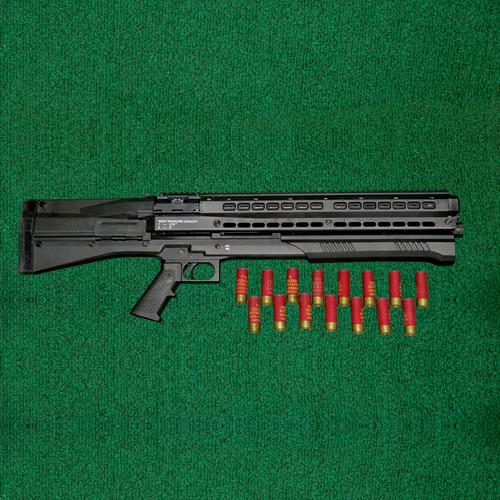 """UTAS - UTS-15, 12 ga., pump shotgun, 18"""" barrel, twin mag tubes"""