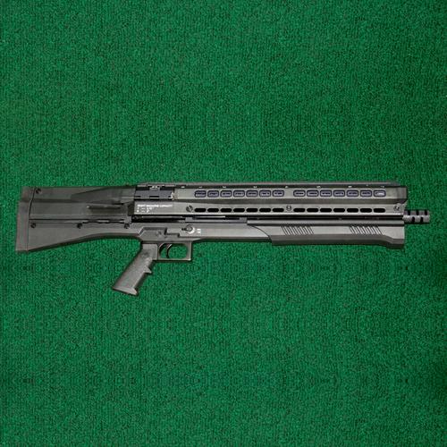 UTAS - UTS-15, 12 ga., twin mag tubes, laser / flashlight unit installed, Tactical choke included.
